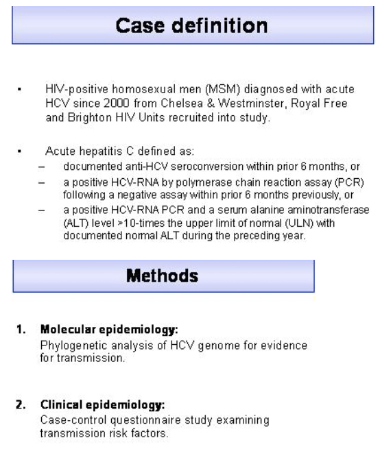 Recent Epidemic & Increase in Acute HCV: Sexual Transmission